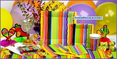 Superdecoraciones fiesta mexicana - Articulos decoracion ...