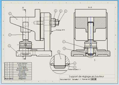 Coursup rieurs m05 dessins d 39 ensembles et plans m caniques - Exercice dessin industriel coupe et section ...