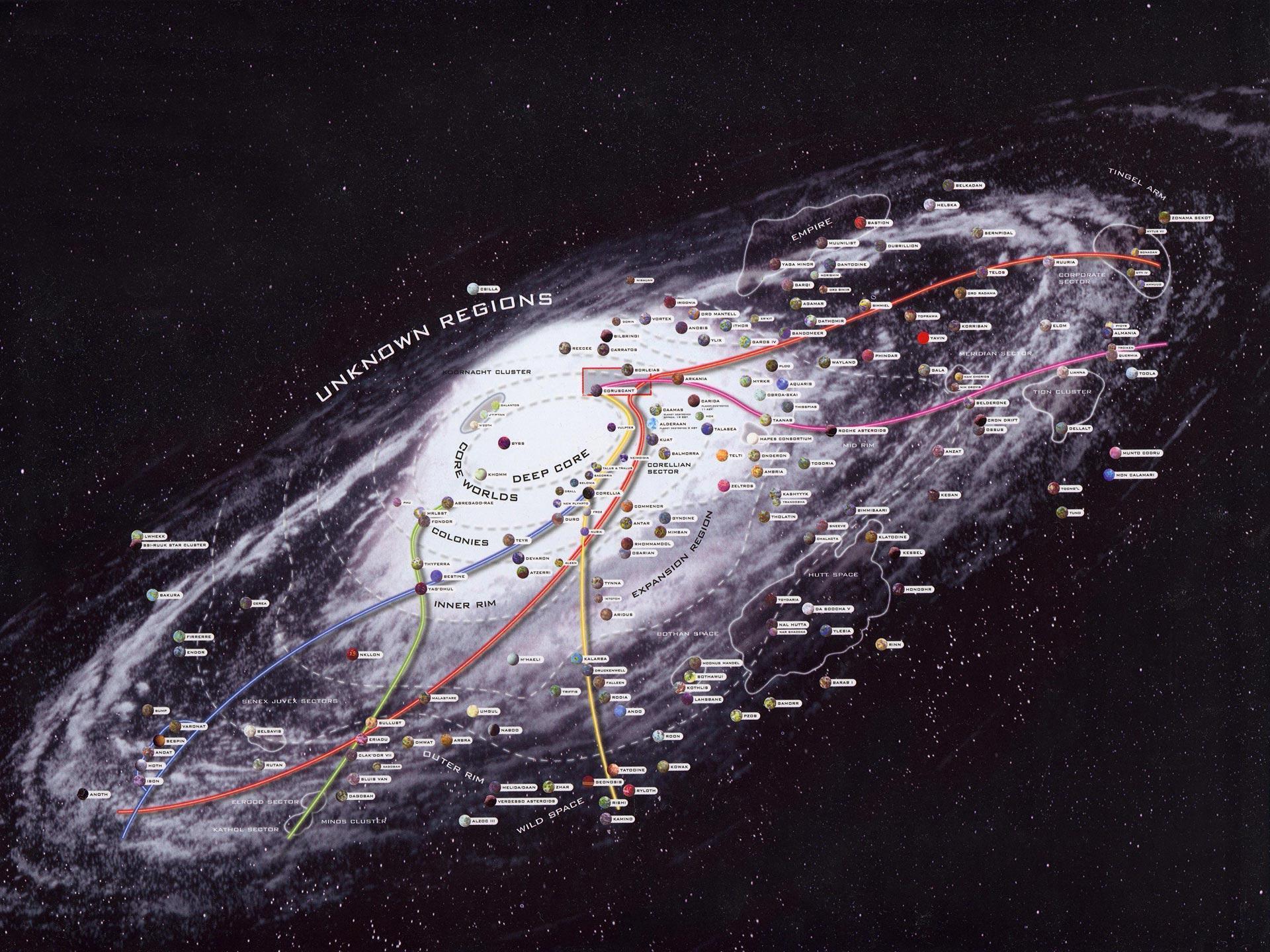 Star Wars Karte.Star Wars Die Klonkriege