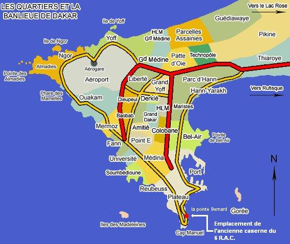 Presentation synergiebat situation geographique for Plan de dakar