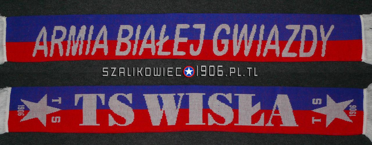 Szalik Armia Białej Gwiazdy Wisła Kraków Wzór 1