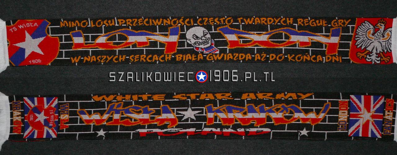Szalik Wisła Kraków Londyn Wzór 1