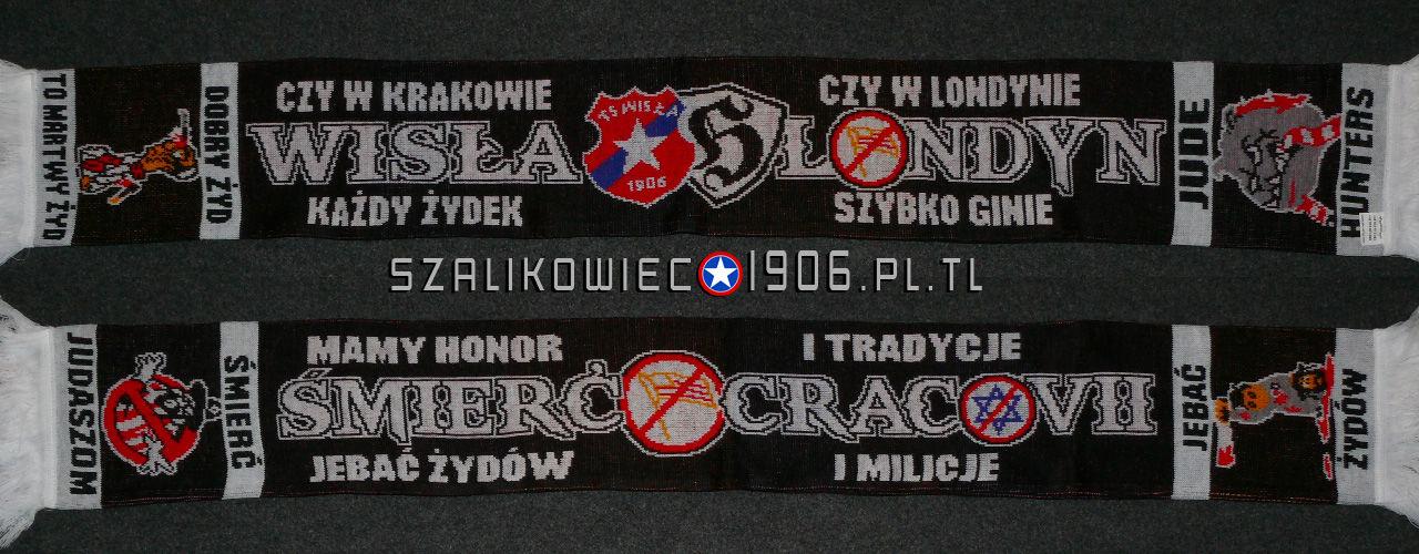 Szalik Wisła Kraków Londyn Wzór 2