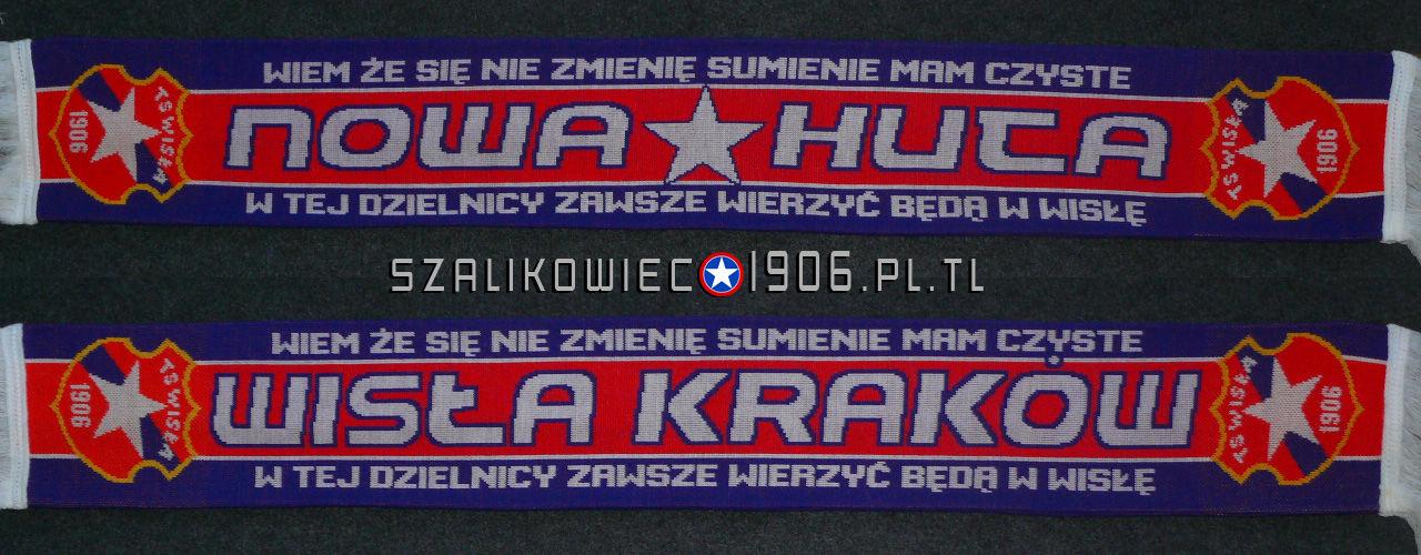 Szalik Wisła Kraków Nowa Huta Wzór 1