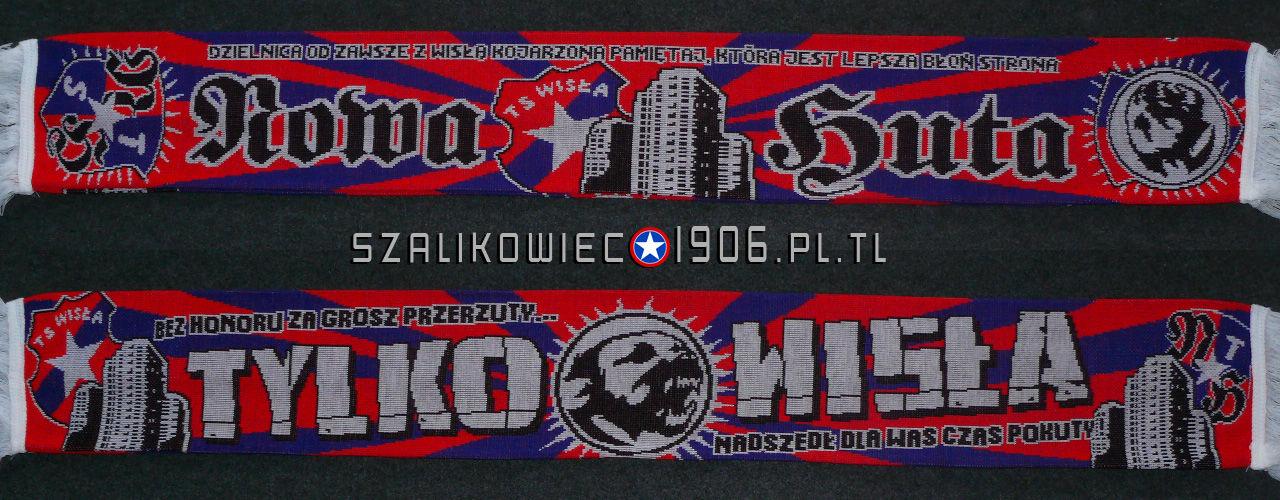 Szalik Wisła Kraków Nowa Huta Wzór 2