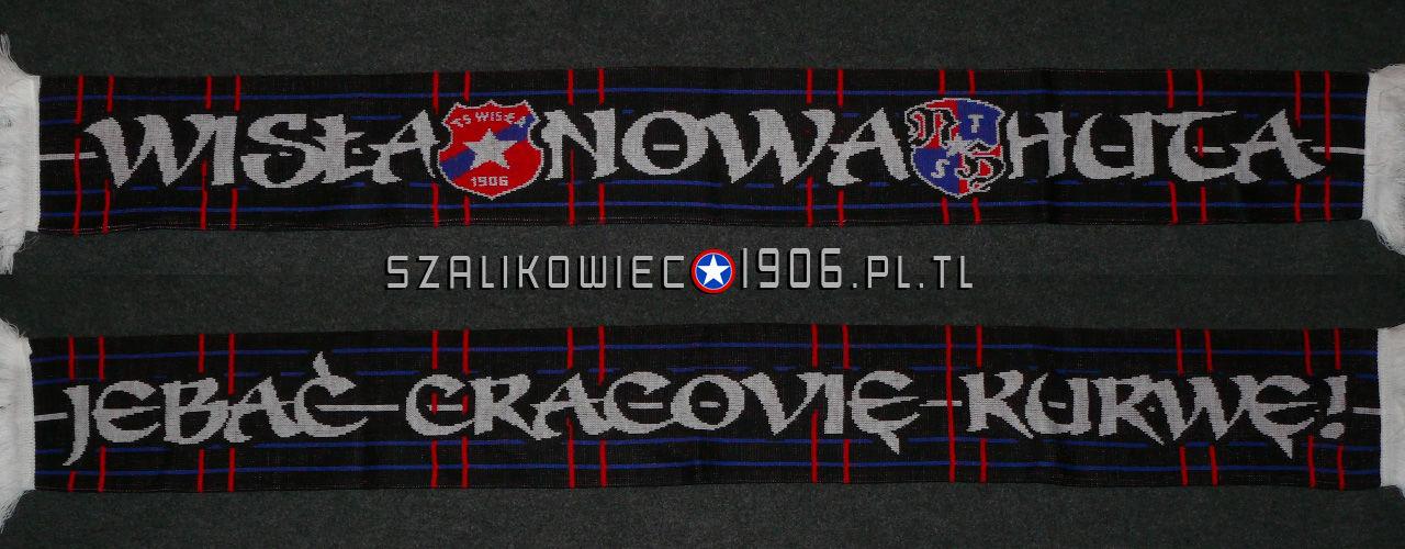 Szalik Wisła Kraków Nowa Huta Wzór 4