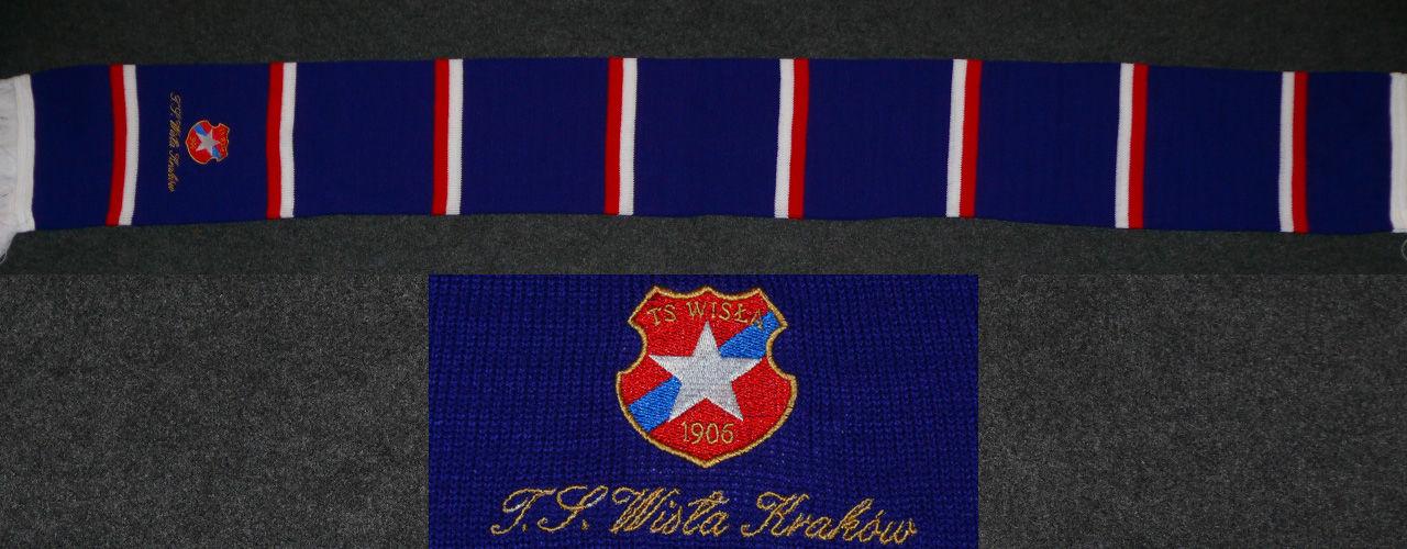 Szalik Pasiak TS Wisła Kraków Niebieski