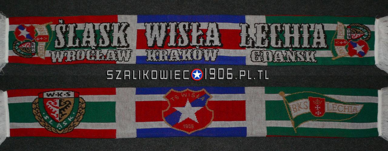 Szalik Łączony Wisła Kraków Śląsk Wrocław Lechia Gdańsk