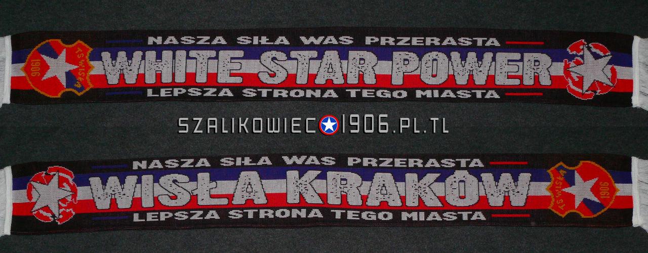 Szalik White Star Power Wzór 1 Wisła Kraków