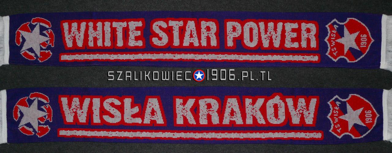 Szalik White Star Power Wzór 2 Wisła Kraków