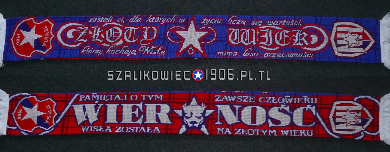 Szalik Wisła Kraków Złoty Wiek Wzór 2