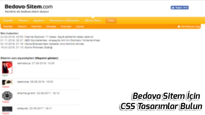 Bedava Sitem Icin CSS Tasarimlar Bulun
