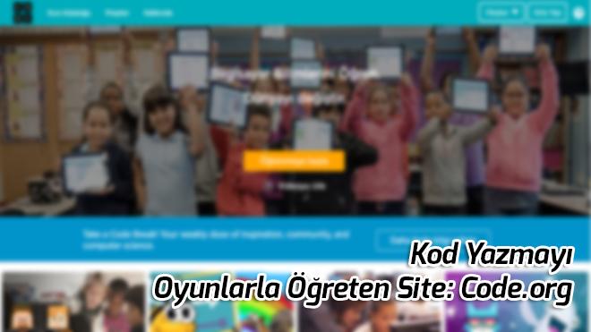 Yazı: Yazilim Yazmayi Oyunlarla Ogreten Site Code org.
