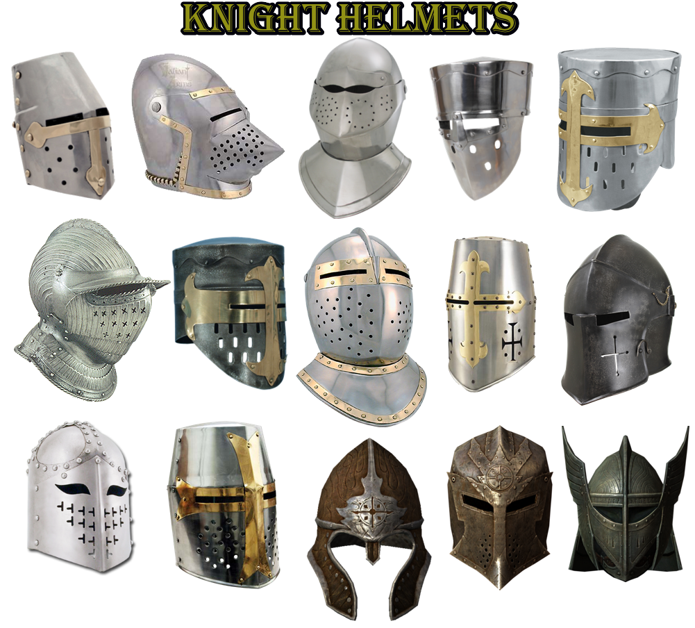 the white knights knight helmets