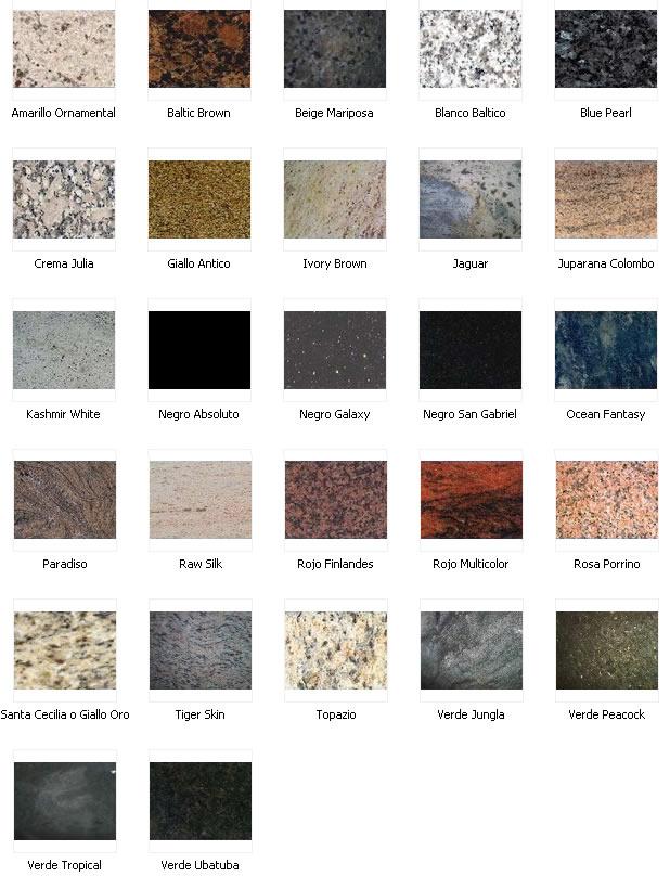 Muebles y decoraciones de marmol y granito carias - Colores de granito ...