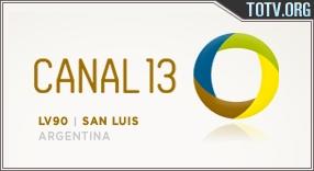 Canal 13 San Luis Argentina tv online mobile totv