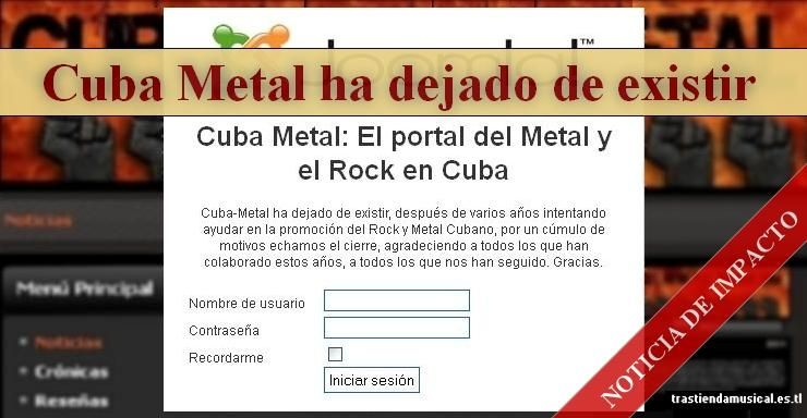 Cuba Metal cierra