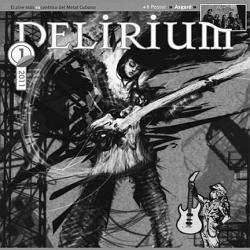 Fragmento de la portada del primer número del fanzine Delirium