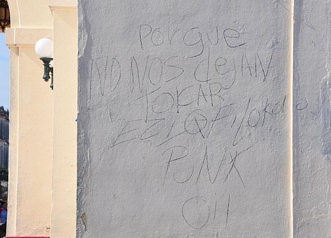 Grafiti en Ciudad Metal