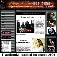 Trastienda musical en enero de 2009