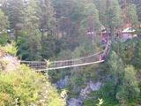 Подвесной мост над Катунью, ведущий из скита