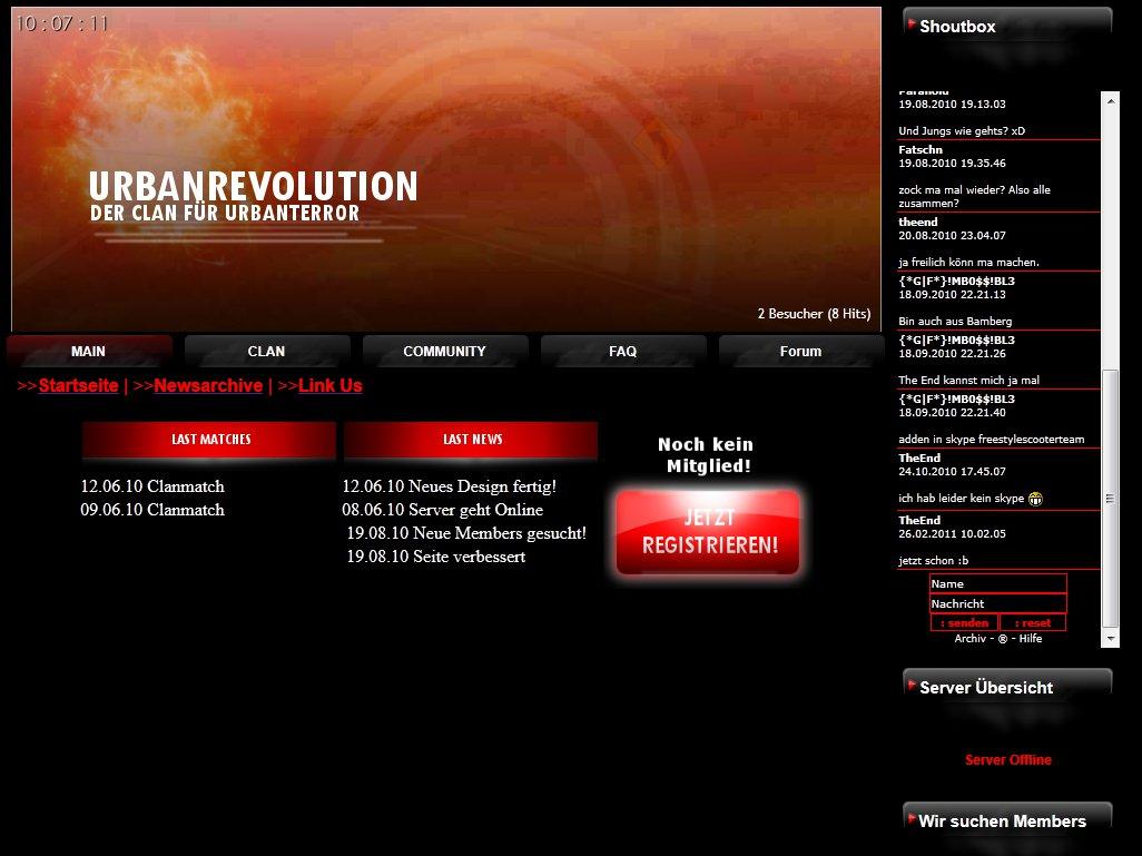kostenloses premium Clan Design Homepage-Baukasten