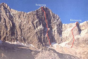 Klettersteig Johann Topo : Johann klettersteig dachstein topo: beschreibung