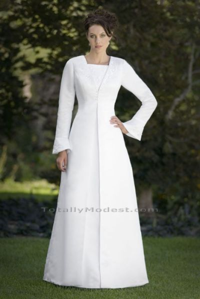 Vestidos de novia para templo mormon