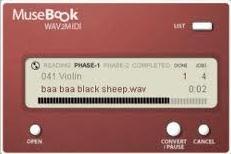 MuseBook WAV to MIDI v1.0 скачать