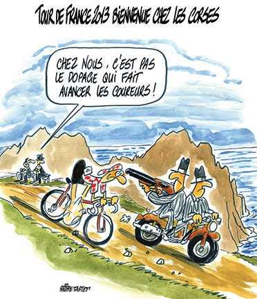 Vtt loisirs briollay tribulations de vtiti en corse - Dessin cycliste humoristique ...