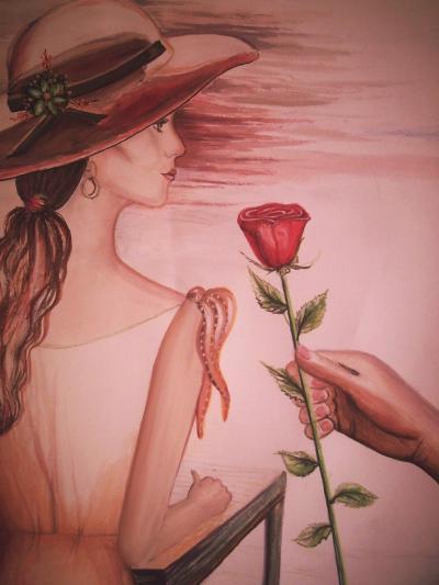 Eine Rose für die Dame