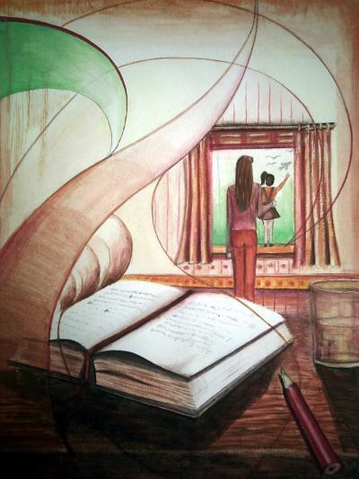 gemalte Bilder, Aussichten - surreal, Elisabeth Becker-Schmollmann, Lisa Wenderoth, Künstlerin, Kunstmalerin, Portraitmalerin