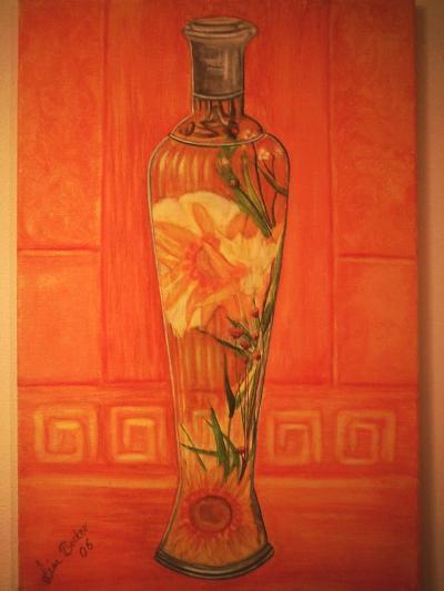 Die Blumenflasche, gemalt von Lissa Wenderoth, gelistet als r12