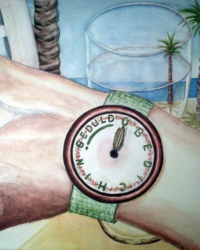 Geduld am Stand, gemalt von Lissa Wenderoth, Völklingen, gelistet als r15