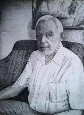 gemalte Portraits, Hans-Werner Schmollmann, gemalt von Lisa Wenderoth, Künstler-Name
