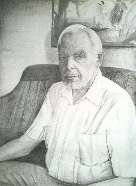 Hans-Werner, gemaltes Portrait, gemalte Bilder, gemalt von Lisa Becker, Künstlername ist Lissa Wenderoth