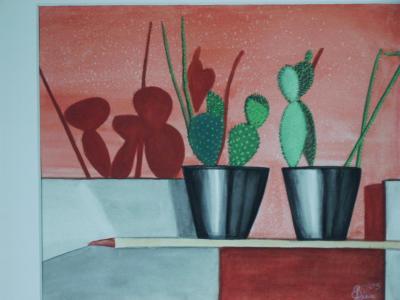 Familie Kaktus, gemaltr von Lissa Wenderoth, gelistet als r13
