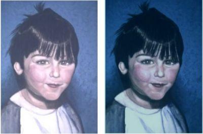 gemalte Portraits, Dave, gemalt von Lisa Wenderoth, Künstler-Name