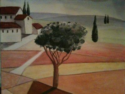 Toscana von Lissa, gemalte Bilder im Realismus von Lissa Wenderoth