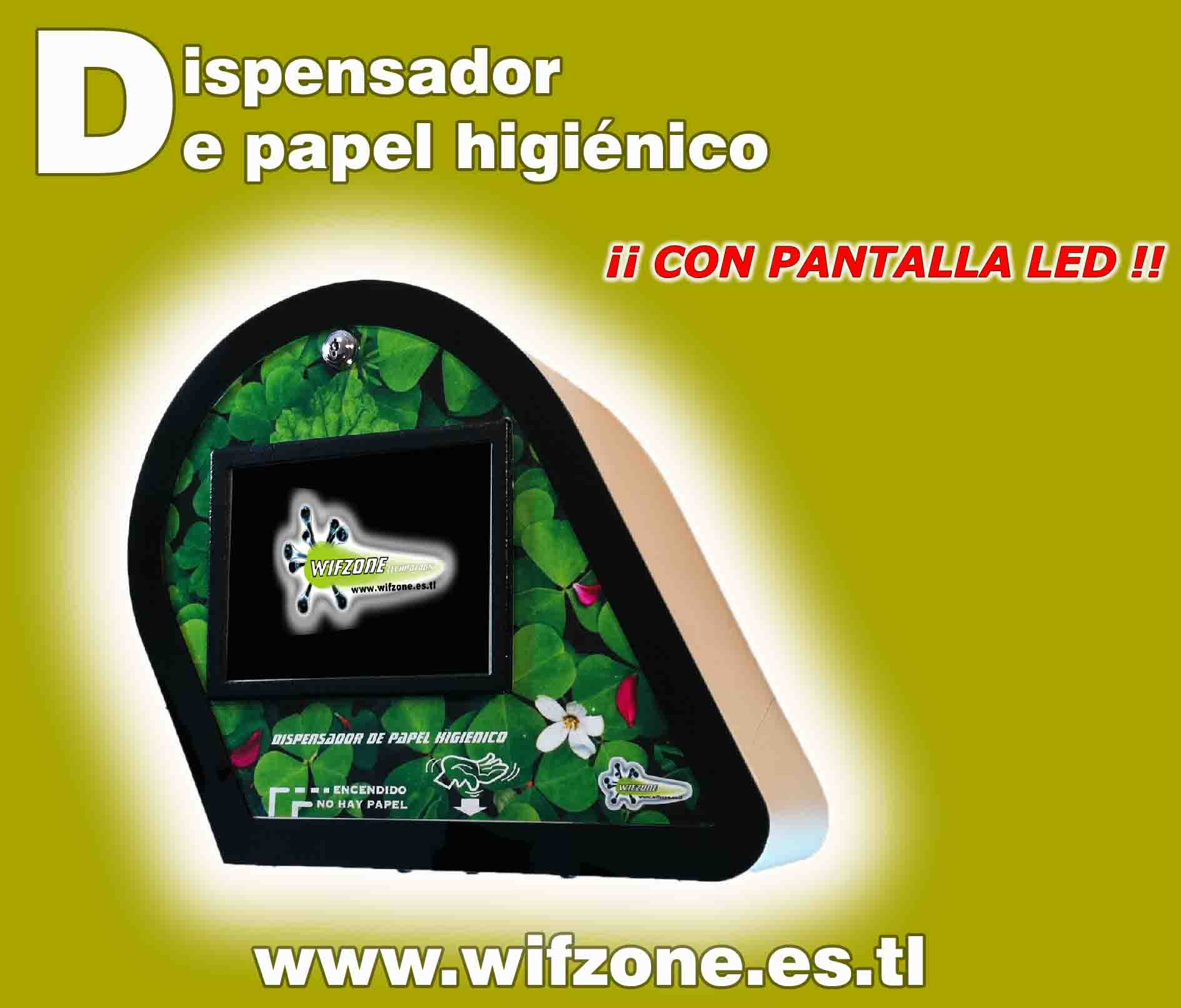 Dispensador Papel Higiénico con pantalla