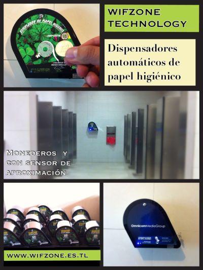Dispensadores automaticos monederos de papel higienico Bogota