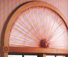 Sunburst Curtains Are Designed For Short Windows And Typically Made From Sheer Fabric Gathered Around A Bendable Curtain Rod Meeting In The Bottom