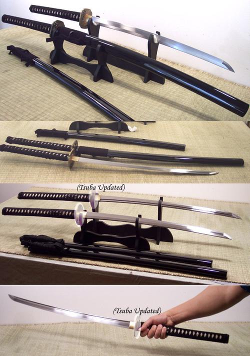Uno de 3 1//2 pulgadas grande tamaño Cuadrado de Hierro Negro Tsuba-espada ninja japonés Ninjato