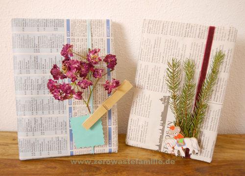 zerowastefamilie zero waste ideen f r geschenkverpackungen. Black Bedroom Furniture Sets. Home Design Ideas
