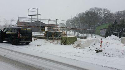 Zimmerei Sven Gerlach - Bodenplatte Neubau im Winter