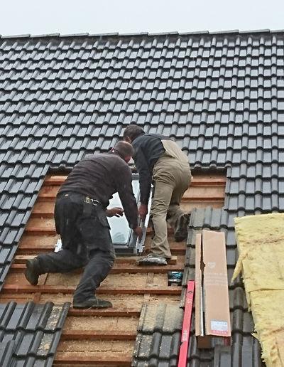 Zimmerei Sven Gerlach - Einbau Dachflächenfenster Velux in Satteldach