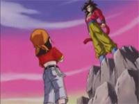 Goku se transforma en Super Saiyajin4