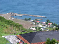 Over-looking St Kitts Marine Work from Brimstone Hill