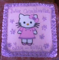 Torta de Hello Kitty cuadrada