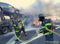 car trailer fire thruway 2012